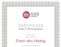 Thermografiekeur is ITC level 2 gecertificeerd in thermografie